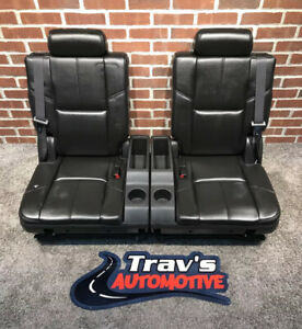 07-14 Chevy Tahoe/Suburban GMC Yukon/Yukon XL 3rd Row 50/50 Bench Seats, Ebony