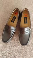 Coach J820 Mens Penny Loafer Brown Leather Size 9.5D Made in Italy NWOB