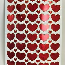 68ASSORTED HEART LOVE STICKERS KIDS SCRAPBOOK CARD ENVELOPE SEALING IQ GAME CUTE