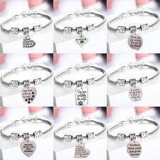 Cute Heart Dog Pet Cat Paws Beads Charm Bracelet Chain Bangle Best Friend Gifts
