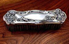 American Art Nouveau Sterling Silver Clothes Brush: No Monogram