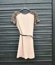 Ladies size 12 dress - Oasis - Nude black lace - Party