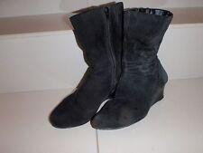 Zip Wedge Medium Width (B, M) Solid Boots for Women