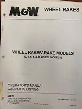 Mampw 2 4 6 8 10 Wheel Rakes Manual 4782r1198