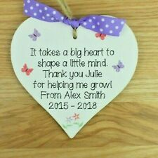 Thank You Nursery Teacher Gift Personalised plaque Childminder Preschool Leaving