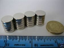 "10 of 1/2"" x 1/8"" Neodymium Disc Magnets 12mm 13mm 3mm Rare Earth Round Magnetic"