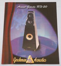 RARE_Vintage_Gershman Acoustics Avant Garde RX-20 Original 2-page Sales Brochure