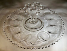 "CANDLEWICK CRYSTAL #400/154 11-1/2"" DIAMETER HANDLED DEVILED EGG SERVER or TRAY!"