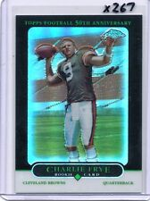 CHARLIE FRYE 2005 05 TOPPS CHROME BLACK REFRACTOR RC 30/100 - AKRON BROWNS X267
