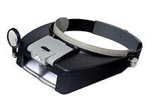 Magnifying Glass Lens LED Light Head Set 10x 20x Magnifier Band Visor Loupe Eye