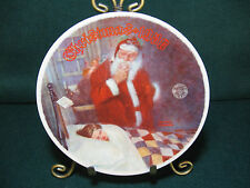 """Knowles Norman Rockwell Collector Plate """"Deer Santy"""""""