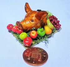 1:12 Scale Roasted Pig Head Doll House Miniature Tudor Food