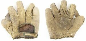 "Circa 1910's, Goldsmith 1"" Web White Baseball Glove, Fits Right Hand, LH Thrower"