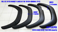 MATTE BLACK TOYOTA ALL NEW HILUX REVO SR5 M80 2015 FENDER FLARES WHEEL ARCHES