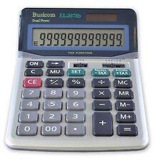 New Busicom EL2878B TAX Pro Large display calculator Dual power Heavy duty