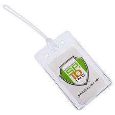 Bulk 25 Pack-Verriegelung TOP klar Kunststoff Gepäck ID Tasche Tags passt Visitenkarten