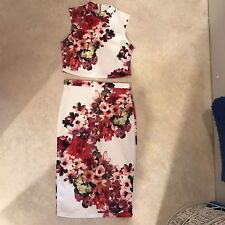 lipsy michelle keegan Size 10 Two Piece Top And Bodycon Skirt