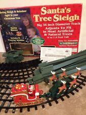 Santa's Tree Sleigh Christmas Tree-Mounted Train Set