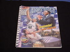 2000 University of Kentucky NCAA Basketball Tournament Media Guide - UK