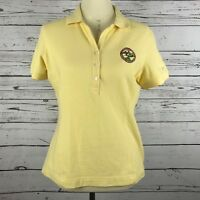Nike Golf women Polo Shirt Tazewell Virginia 1866 Logo Top S Yellow Short Sleeve