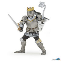 König in Rüstung mit Streitkolben 9 cm Ritter und Burgen Papo 39779