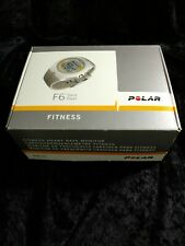 POLAR F6 SAND PEARL FITNESS WATCH HEART CHEST STRAP  LOOKS UNUSED NEW BATTERY