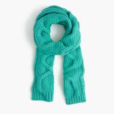 J. Crew Italian Wool-blend Scarf Wool Acrylic Alpaca Emerald One Size Pre-owned