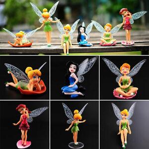 6Pcs/Set Disney Tinker Bell Fairies Princess Figure Model Display Cake Topper