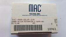 MAC VALVES 34C-AAA-GDJA-1KA SOLENOID VALVE (TROLLEY F.3B6)