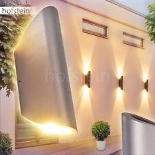 Aussen Wand Leuchten LED Design Hof Veranda Terrassen Lampen Garten silberfarben