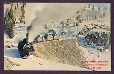 LMH Postcard DENVER RIO GRANDE WESTERN Railroad  2-8-2 K-36 484 488 CUMBRES PASS