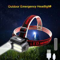 Rechargeable Headlamp Head Light Torch Flashlight 4 Modes COB LED Headlight USB