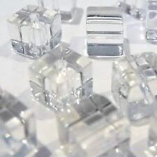 200 x 4mm / 100 x 6mm Crystal Glass Cube Beads - Various Colour