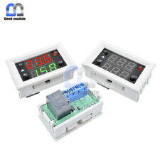 Digital DUAL LED Red+Green Display 12V Timing Delay Cycling Relay Module Switch