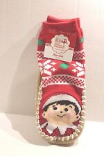 Elf on the Shelf Christmas Slipper Socks Slippers Toddler Boy or Girl 2T - 3T