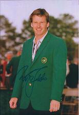 Sir Nick FALDO SIGNED 12x8 Photo AFTAL COA Autograph Masters Winner Green Jacket