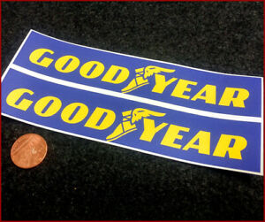 Goodyear Tyres x2 200mm Racing Sticker Decal Vintage Retro Rally Car