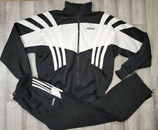 Vintage Adidas 90's Jacket Sweatpants Tracksuit Size Medium black & White