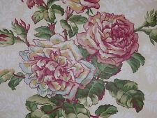 1.75 Yards Covington Floral Rose CREAM IVORY Home Decor Drapery Sewing Fabric