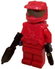**NEW** LEGO Custom - RED HALO SPARTAN - Master Chief Xbox Video Game Minifigure