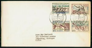 MayfairStamps Ivory Coast 1961 Sporting Event 4 Stamps First Day Cover wwi77937