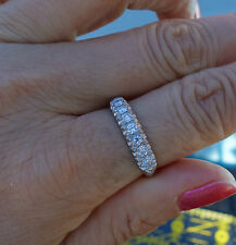 1/3ct G/VVS diamond platinum antique vintage wedding anniversary band