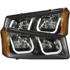 Anzo 111312 Black U-Bar Headlights for 2003-2006 Silverado 1500 2500 3500