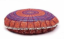 "32"" Mandala Round Poof Foot Stool Floor Pillow Cover Pouf Ottoman Indian Hippie"