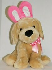 Easter Bunny Dog Puppy Stuffed Plush Pink Ears 15 Inches
