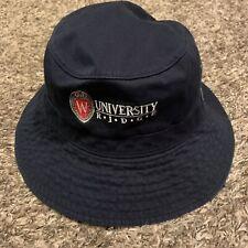 University Of Wisconsin Ridge Badgers Navy Blue Bucket Hat Size Large