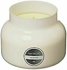 Capri Blue WHITE CANDLE, Volcano 19 ozs, #1 Fragrance, BURNS 18 hrs