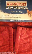 Akc American Kennel Club Pet Throw - Red/Burgundy 20x30 in