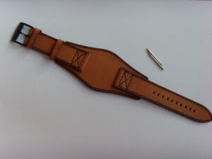 Fossil Original Spare Leather Strap FS4616 Watch Band With Underlay 24