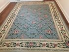 Vintage Hand Knotted Cristich France Needlework Wool Kilim Area Rug 11 x 8 Ft